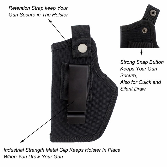 Gun Holster Concealed Carry Holsters Belt Metal Clip IWB OWB Holster Airsoft Gun Bag Hunting Articles For All Sizes Handguns 4