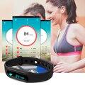 Poca Frecuencia Cardíaca Negro Pulsera Inteligente Bluetooth 4.0 Calorías Podómetro Rastreador Deporte Pulsera para Android iOS