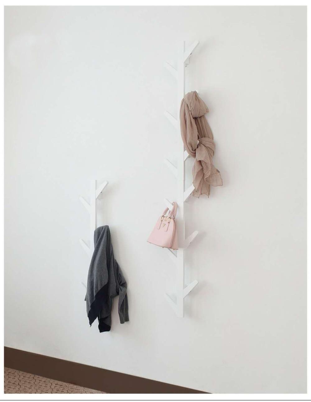 Galhos de árvores, cabides de parede, varanda, decoração, roupas rack, decoração da parede. C - 6