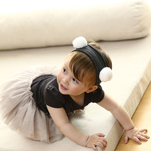 Korea High Quality Handmade Cotton Panda Flower Crown Hair Accessories Girls Headband Band Bows Ties Turbante -3