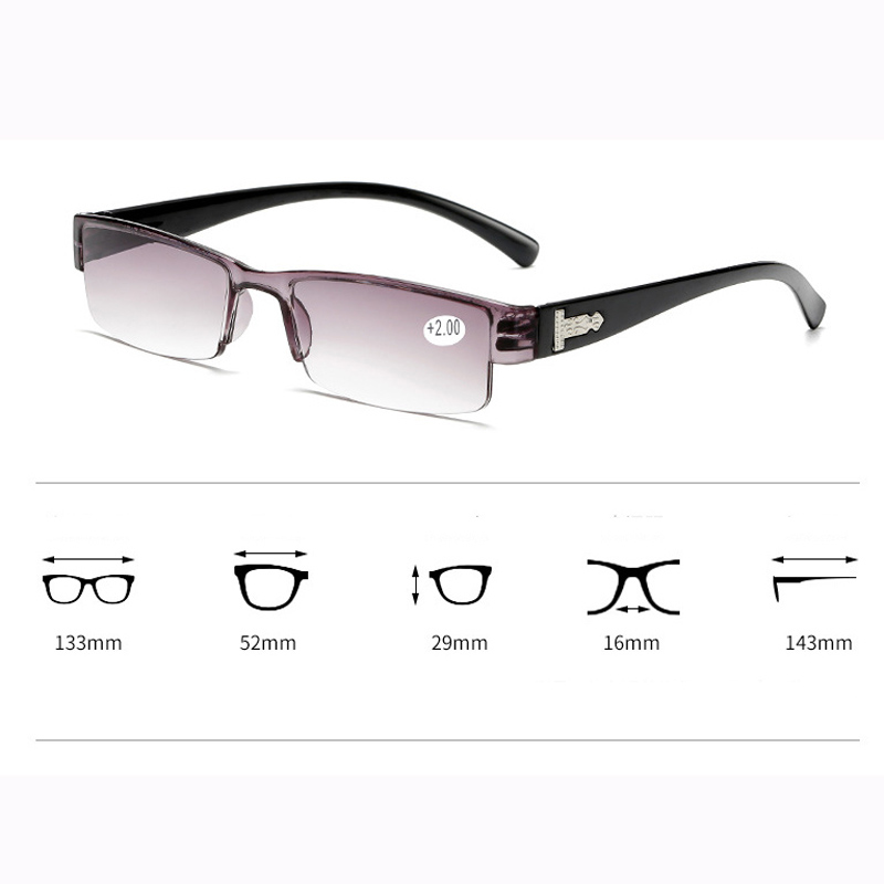 VCKA Square TR90 Reading Glasses Rimless Men Women Ultra-light Frameless Spectacles1.5 2.0 2.5 3.0 3.5 4.0 Eye Sight Glasses Goggles Home, Pets and Appliances 7fbb8c2a551aaaea0fd30c: +100|+150|+200|+250|+300|+350|+400