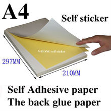 Sticker Paper - Glossy Surface Label Laser Printer A4 size adhesive