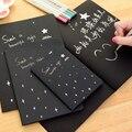 Quente Diário Sketchbook desenho Pintura graffiti livro de papel preto 28 folhas ketch Material Escolar notebook como presente 16 k 32 k 56 k