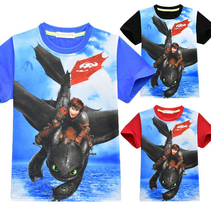 Hot Summer How To Train Your Dragon: The Hidden World Boy's T shirts Child Cartoon T Shirt Kids Casual Top Tee Cosplay Costume