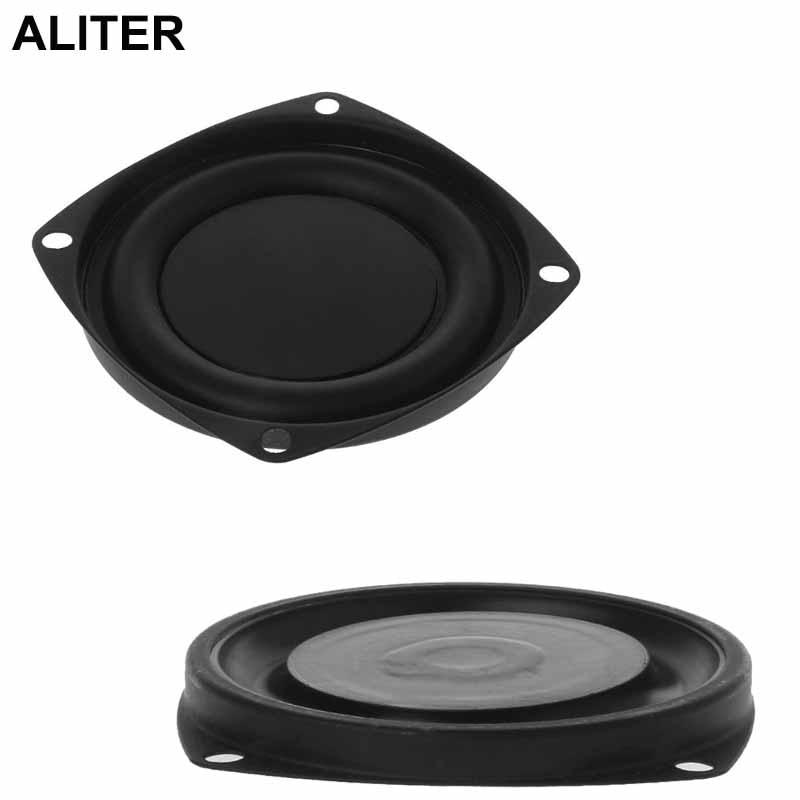"2PCS Woofer Radiator Bass Passive Speaker 3"" Low Frequency Loudspeaker Diaphragm Vibration Plate DIY"