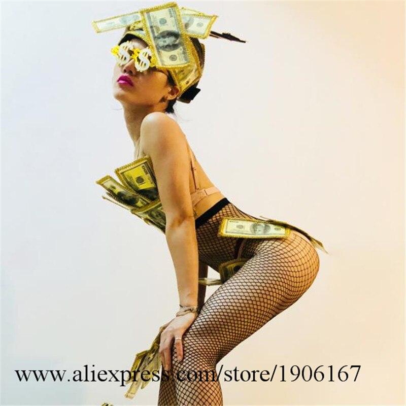 US dollar art design gogo bar ds costume sexy bikini performance clothing3