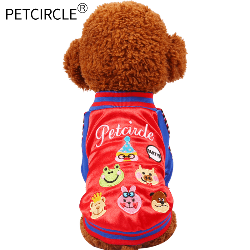 Petcircle Hot Sale Dog Cat Clothes Winter Cartoon Print Dog Hoodies Coats Waterproof Pet Costumes For Chihuahua Pet Products2017