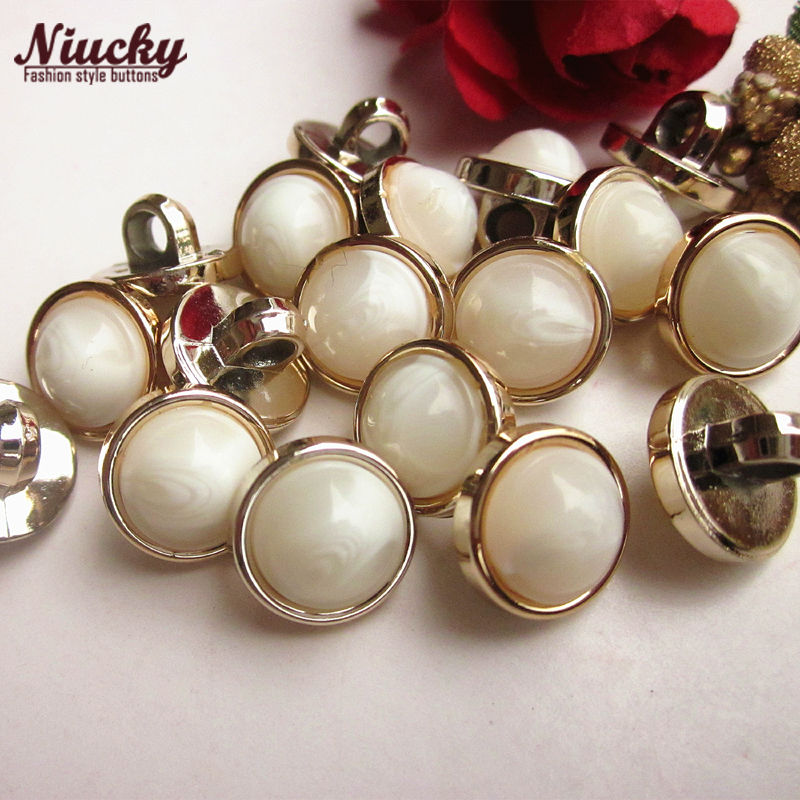 Niucky 11.8mm 7/16 18L Rose Gold edge jade women sewing buttons for cardigan sweater shirt buckle sewing supplies P0301d-020
