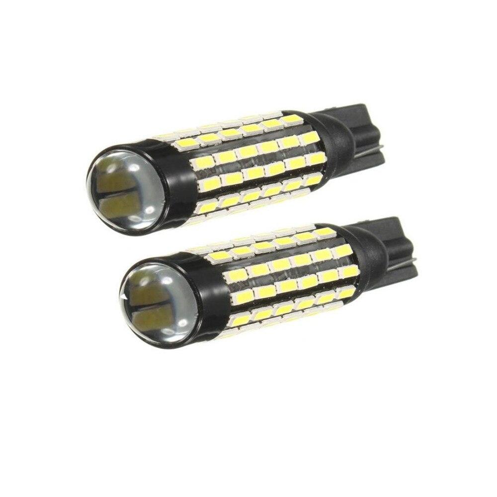 Dongzhen 2X T10 W5W White 78 SMD 3014 High Power LED Lamp Interior Light Turn Signal Backup Reverse Light Bulb Auto Car-Styling 9006 5 4w 190 lumen 27x5050 smd led car white light bulb backup light