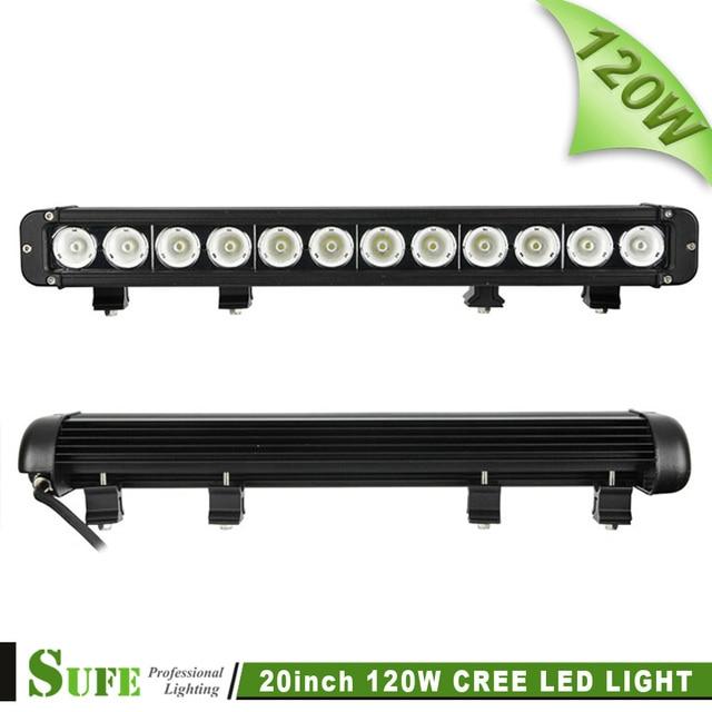 SUFE 20 INCH 120W Single Row LED LIGHT BAR DRIVING Lamp COMBO FOR OFFROAD MARINE BOAT CAMPING 4x4 ATV UTV USE 180W 240W