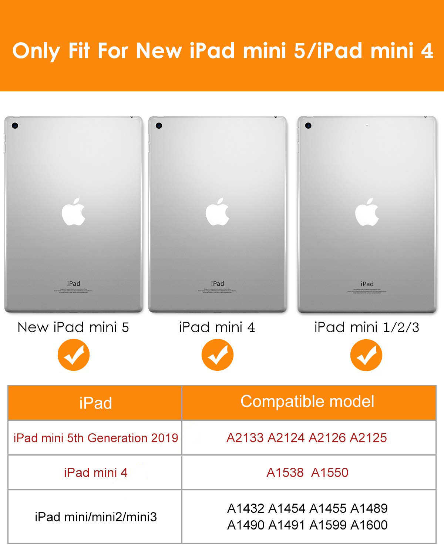 สำหรับ iPad Mini 4 3 2 1 กรณี PU หนังซิลิโคน Trifold สมาร์ทสำหรับ iPad Mini 2 5 2019 กรณี Funda