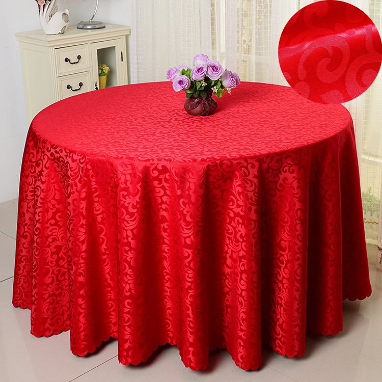 free shipping wholesale polyester round tablecloth for ...