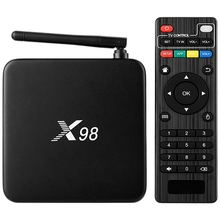 Set-top Box X98 S905 Inteligente Android TV Box Amlogic Quad Core 2 GB 16 GB 2.4 GHz WiFi 4 K * 2 K Set Top Bluetooth 4.1 Reproductor de Medios
