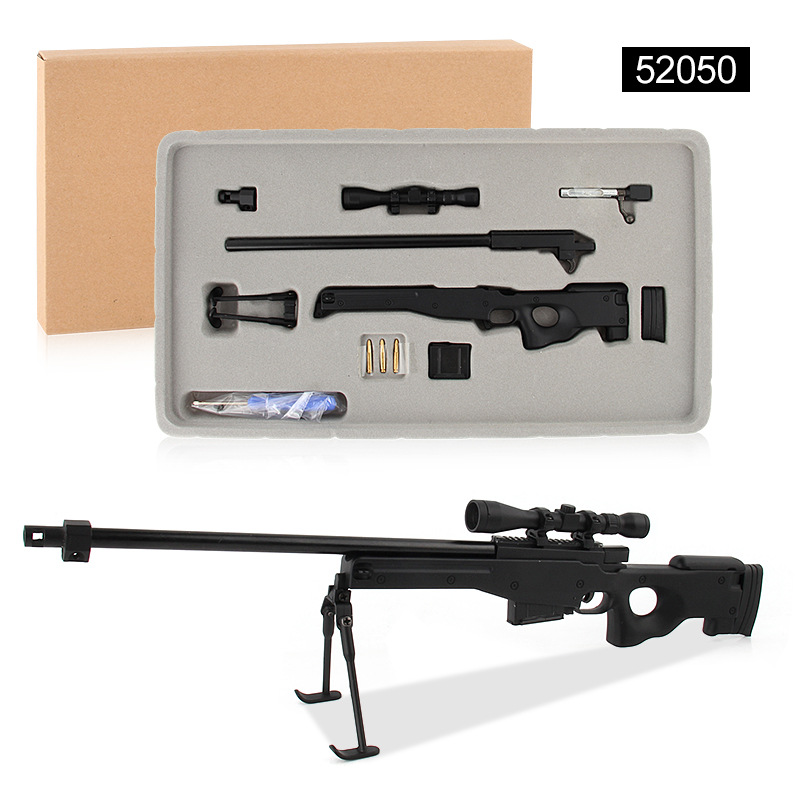 1 4 Alloy AWM Sniper Rifle Assemble Metal Toy Gun Military Model Can Not Shoot For Collection in Model Building Kits from Toys Hobbies