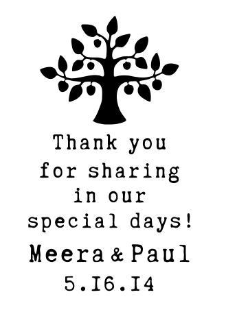 Wooden Rubber Stamp Tag Reception Card Big Tree Marriage Seal DIY Wedding  Invitation Please Attach 4