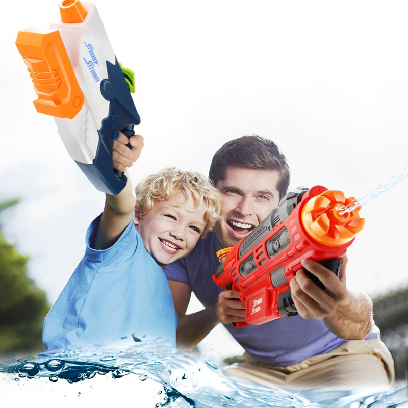 6 Model Water Gun Beach Toys Outdoor Games Shooting High Pressure Soaker Pump Water Guns Toy For Kids Adult