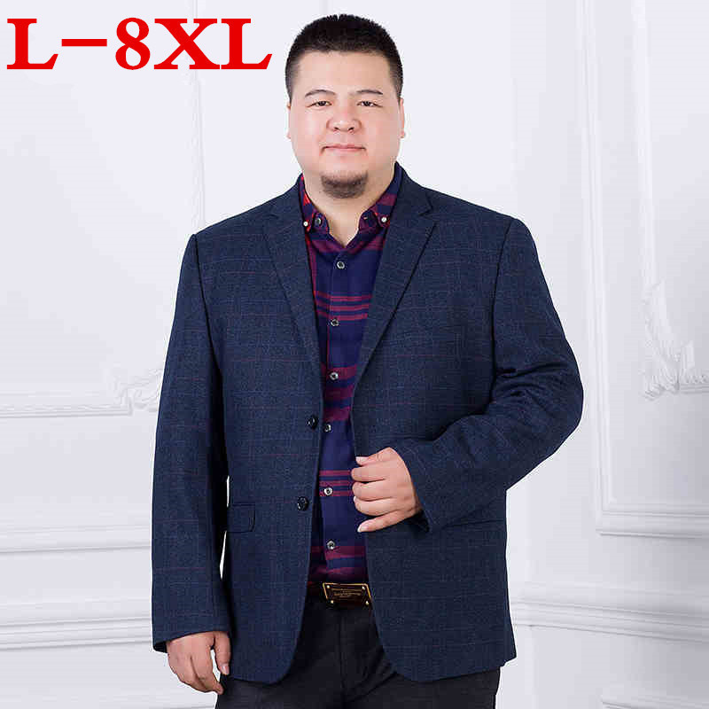 new 8XL 7XL 6XL New Arrival Business mens blazer Casual Blazers Men lattice Formal jacket Popular Design Men Dress Suit Jackets