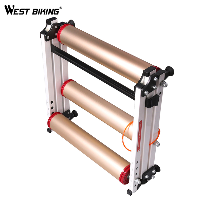 WEST BIKING Bike Training Station Indoor Fold Bicycle Cycling Exercise Station Fitness Roller Bike Trainer Roller Training Tool road bicycle exercise fitness station indoor training station mtb bike trainer folding roller training tool 3 stage folding