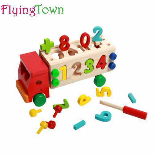 Educational Disassembly wooden math toys for children 3 ...