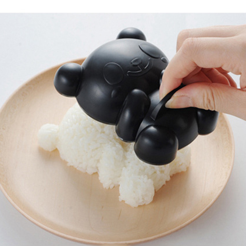 4 шт./компл. мультфильм формочка в виде панды рисовые суши плесень Onigiri формирователь и обжаренные резак для водорослей комплект Кухня пресс-формы для ЕА-1