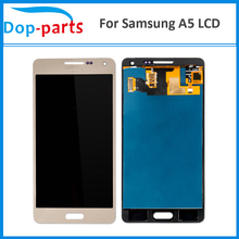 50Pcs Best Price LCD For Samsung Galaxy A5 A500 A500H A500F A500M Display Touch Screen Glass Panel Assembly Replacement