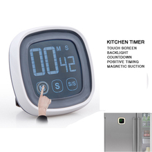 Touch Screen Kitchen Digital Pomodoro Timer Temporizador Stopwatch Alarm Clock Magnetic Kookwekker Kitchen Gadgets Cucina pomodoro