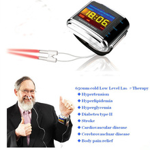 ATANG New 650nm Laser Therapy Watch Home Diode High Blood Pressure High Blood Sugar for Diabetes Semiconductor Treatment CE Cold цена и фото