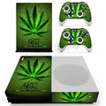 For Xbox One Slim Skin Sticker 420 Leaf Vinyl Decals for Xbox One Slim Game Console & Controller PVC Skins Cover