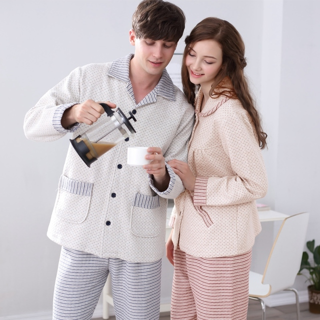 2016 winter pyjamas men high quality cotton long sleeved sleepwear mens pajama set