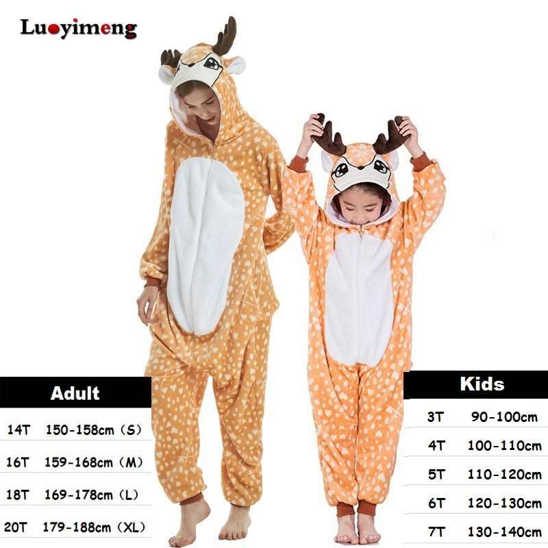 Ropa de bebé niña pijamas unicornio invierno mujer franela con capucha Animal Panda Stitch Onesie ropa de dormir fiesta Cosplay disfraces Pijama