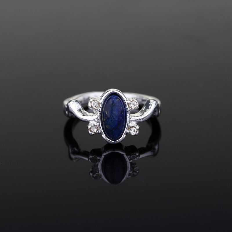 Classic The Vampire Diaries Elenas Daylight Sun Protection Ring Lapis Lazuli Rings ...