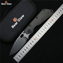 Bear claw SMF Folding Knife D2 blade Carbon fiber Titanium handle Copper washer kitchen outdoors utility fruit Knives EDC Tools