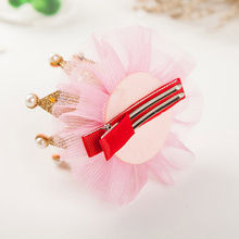 1 pcs Lovely Cute Girls Crown Princess Hair Clip Lace Pearl Shiny Star Headband Hairpins Hair Accessories the cheapest products