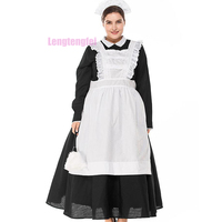 Hot Sale Uniform Womens Sexy Black/White Castle Maid Adult Traditional Maid Filipino Maid Play Costume Sexy Lingerie