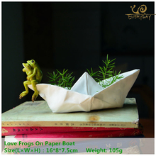 ED Design originale di qualità Spring Garden Frog Resin Animal Gnome Statue Flowerpot Ornament Home Desk Fairy Decoation
