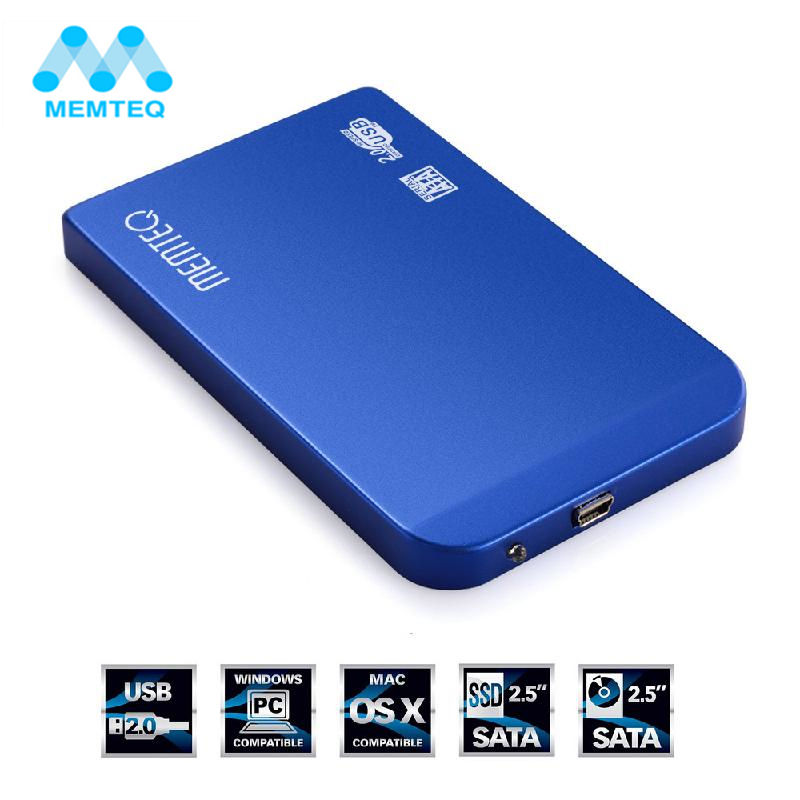 MEMTEQ USB 2.0 HDD Hard Drive External Enclosure 2.5 inch SATA SSD Mobile Disk Box Cases Laptop Hard Drive HDD Caddy For Windows wireless hdd enclosure 2 5 hd sata box usb 3 0 hdd hard drive external hdd caddy router function hard disk case use for 1tb hdd