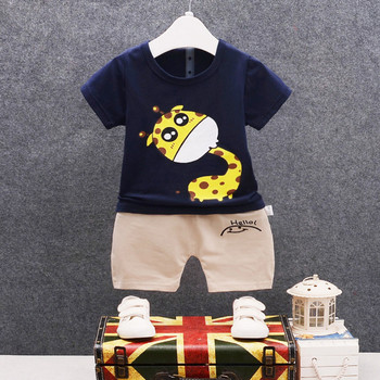 Newborn cartoon baby boy clothing set summer new style