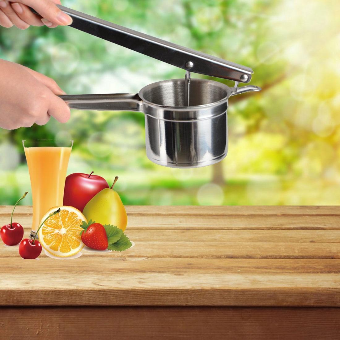 1Pc Steel Stainless Kitchen Useful Gadget Fruit Lemon Lime Orange Squeezer Juicer Manual Hand Press Tool