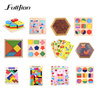 Puzzle Games Montessori Toys Learning Education 3d Wooden Puzzles For Adults Math Toys Jigsaw Maze Teaser Sensory Materials Kids
