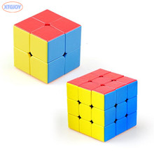 4pcs set Smooth Gem Cube Puzzle Brain Teaser Magico Speed Cubo Hand Spinner Kids Gifts Educational