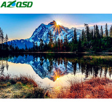 AZQSD Oil Painting By Numbers Landscape Frameless coloring by numbers Pictures Canvas DIY  Home Decoration Wall Art