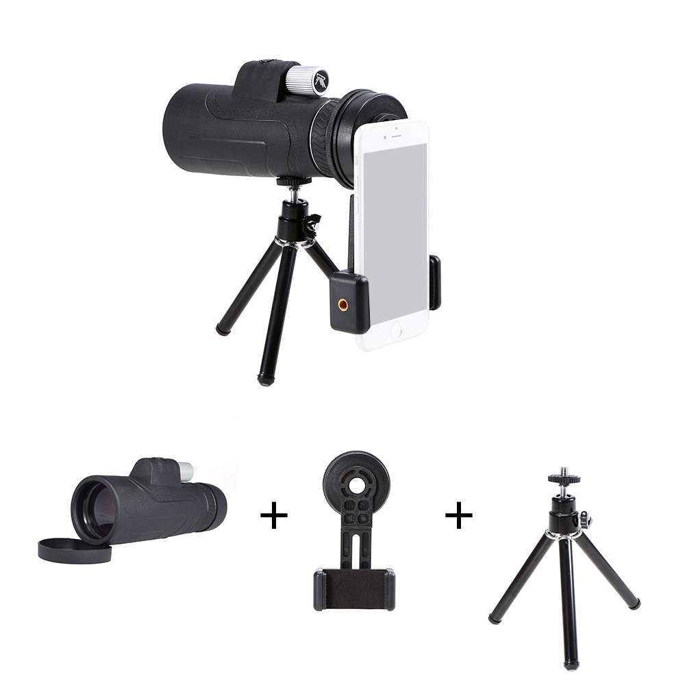 10X50 Photography Monocular Telescope Outdoor Hunting Camping Scopes with Smartphone Mount Adapter Birdwatch