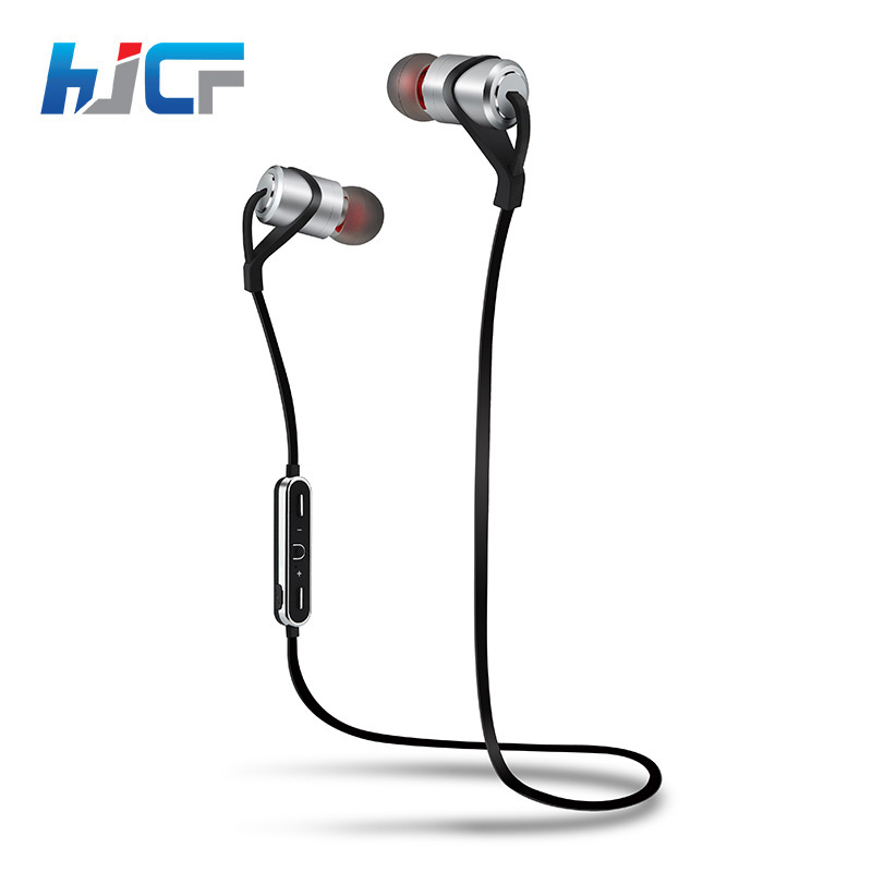 2017 New HJCF Bluetooth Headphone Wireless Sport Headset Sweatproof Exercise Headphone Bluetooth Earphone Noise Cancelling D9S qcy q25 bluetooth 4 1 earphone wireless noise cancelling headphone