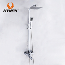 цена на MYNAH Russia free shipping Luxury Shower Faucet Set bath Tub Mixer Hand Shower faucet bathroom shower set tap
