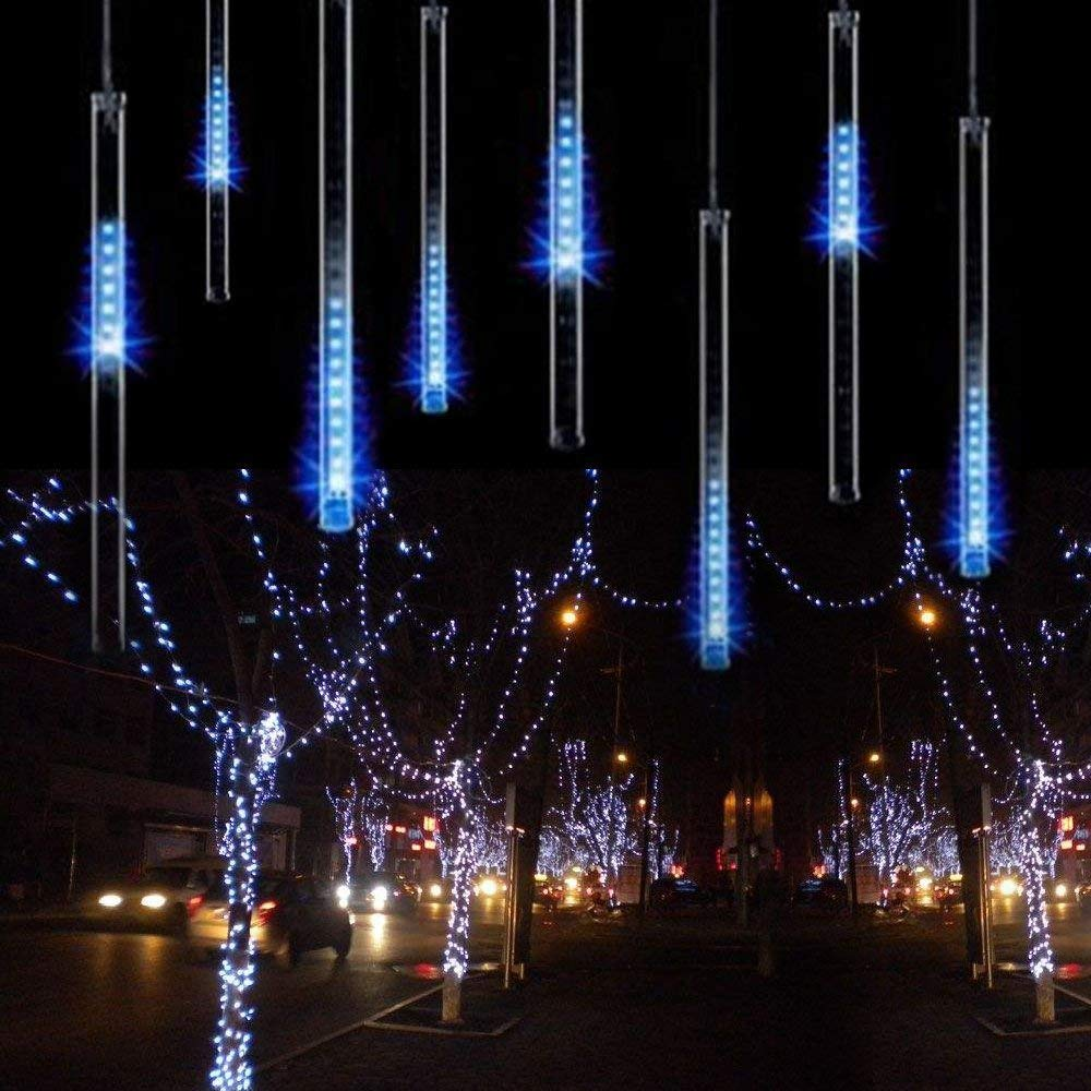 LED Meteor Shower Lights 30cm 8 Tube LED Fairy String Lights Falling Rain Drop Icicle Snow Fall String Waterproof Lights For Hol