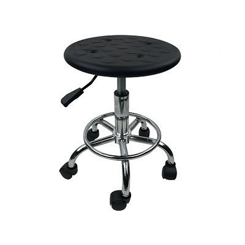 Lifted Anti-static Barber Stool Rotated Stainless Steel Factory Seat Slidable Multi-function Hairdressing/Nail Art/Makeup Stool