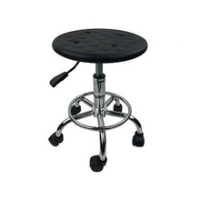 Lifted Anti-static Barber Stool Rotated Stainless Steel Factory Seat Slidable Multi-function Hairdressing/Nail Art/Makeup Stool(China)