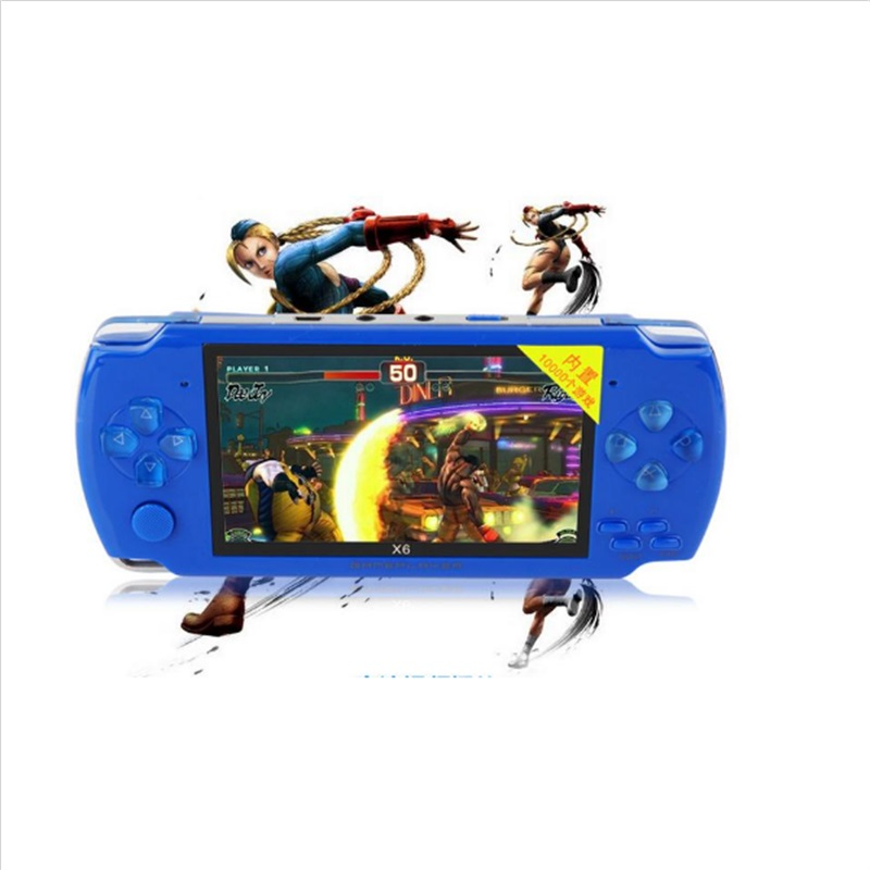 High quality video game 4GB 4.3 inch LCD Screen MP4 Players Games Console Handheld Game free 1000+ games ebook/FM/1.3 MP Camera