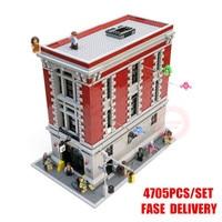 Новый Ghostbusters пожарный штаб fit legoings город цифры Ghostbusters Building block Кирпичи Модель игрушечные лошадки детский подарок