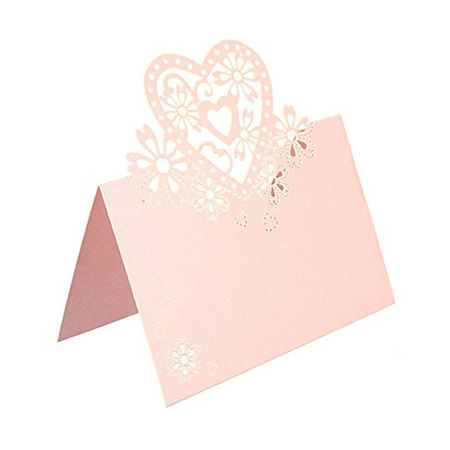 50pcs Love Heart Name Tag Place Card Seat Table